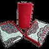 lençol casal 3 peças mandala vermelha
