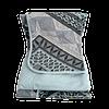 Jogo de Lençol Solteiro 3 Peças de Malha Estampa Geométrica Azul Claro