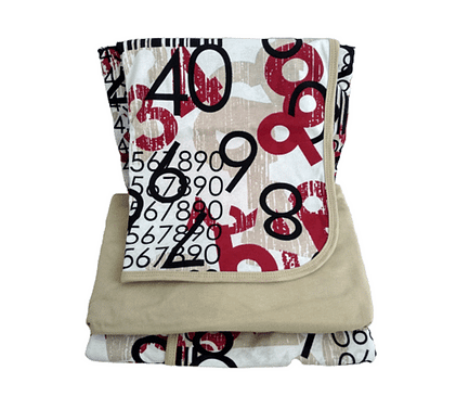 Jogo de lençol solteiro estampa de números