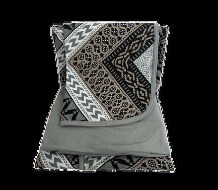 Jogo de lençol solteiro estampa geométrica cinza