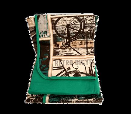 Jogo de Lençol Solteiro 3 Peças de Malha Verde Estampa Vintage