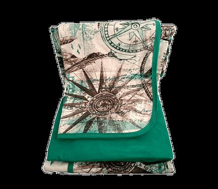 Jogo de lençol solteiro verde marítimo