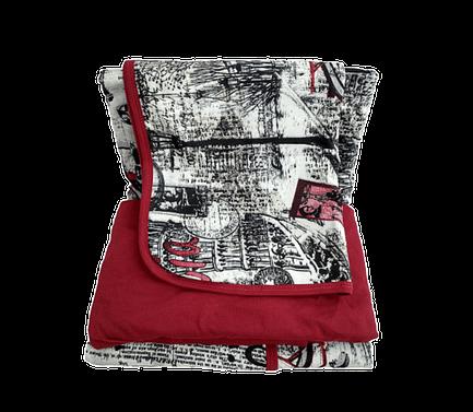 Jogo de lençol solteiro vermelho vintage