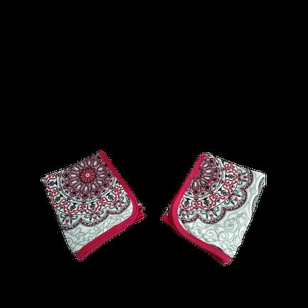 Fronha Mandala Vermelho Cereja