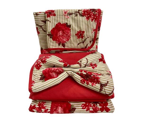 Jogo de lençol casal 4 peças
