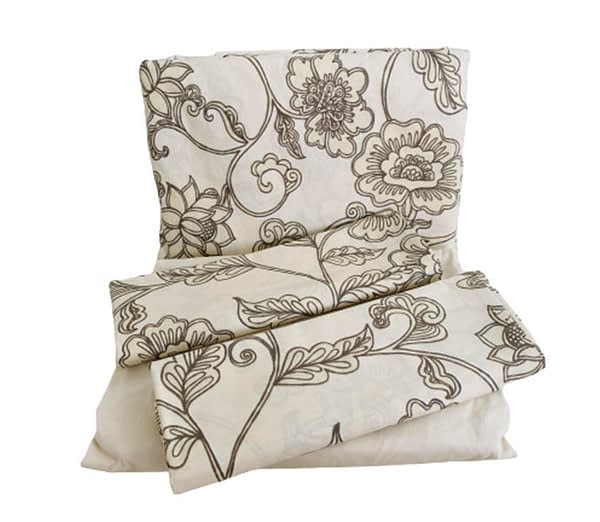 jogo de lençol algodão floral nude
