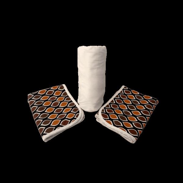 Conjunto 3 Peças Queen Branco Estampado