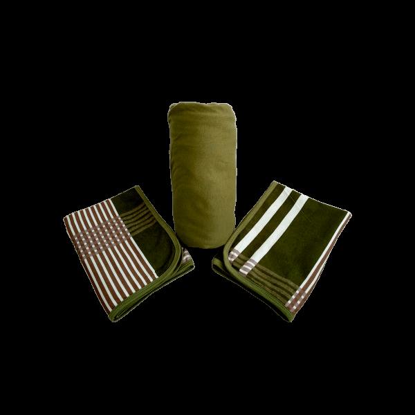 Conjunto 3 Peças Queen Verde Escuro Estampado