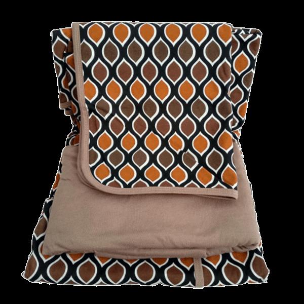 Jogo de lençol solteiro estampa geométrica marrom