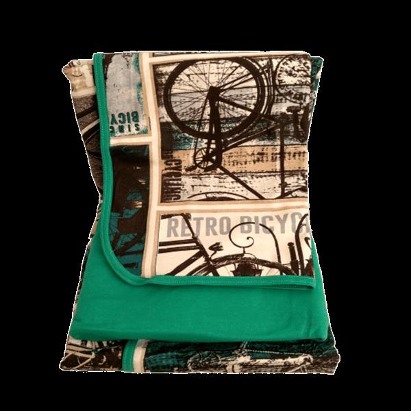 Jogo de lençol solteiro estampa verde vintage