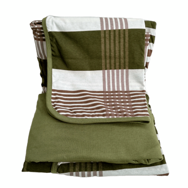 Jogo de lençol solteiro verde estampado